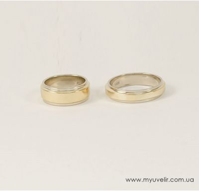 Кольца классические свадебные