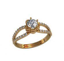 Кольцо женское цветочек
