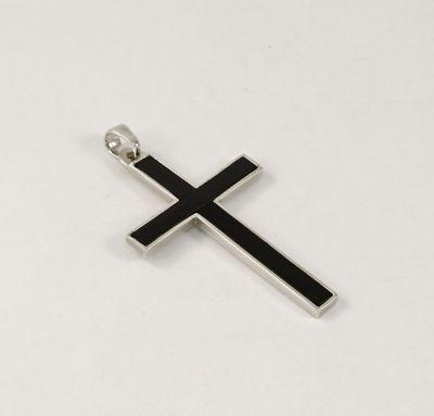 Мужской крест с ониксом