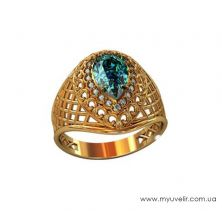 Женское кольцо капелька