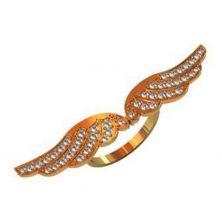 Женское кольцо крылья