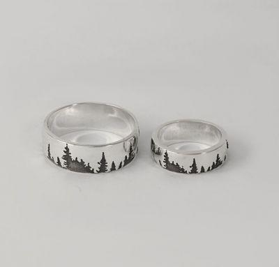 Обручальные кольца лес