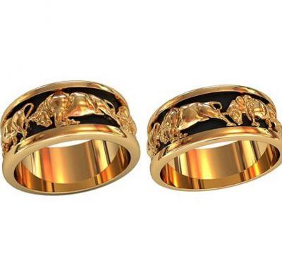 Обручальные кольца быки
