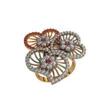 Кольцо три сердца