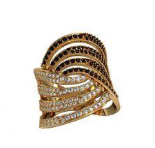 Широкое кольцо золотое