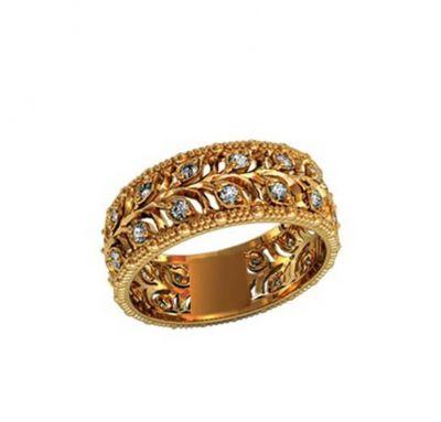 Золотое кольцо веточка
