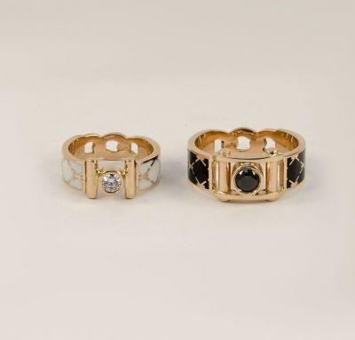 Обручальные кольца эмаль