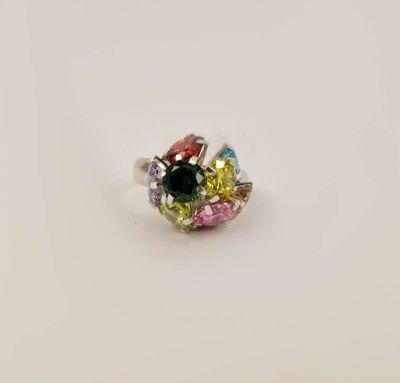 Кольцо эксклюзивное с камнями