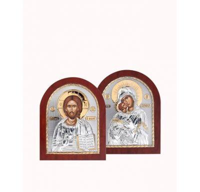 Венчальная пара Спаситель и Богородица 4