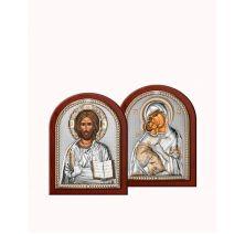 Венчальная пара Спаситель и Богородица 5