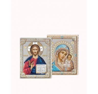 Венчальная пара Спаситель и Богородица 9