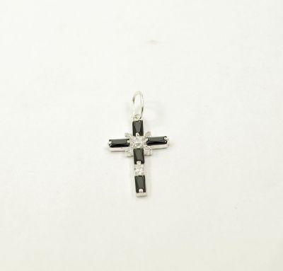 Крест с черными прямоугольными камнями