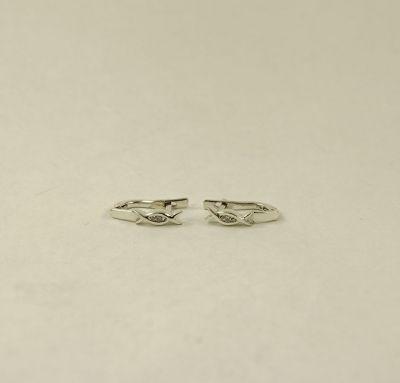 Сережки из серебра с бриллиантами