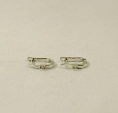 Серебряные сережки с бриллиантами