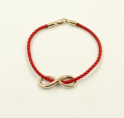 Шелковый браслет с бесконечностью