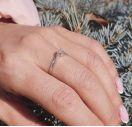 Кольцо из серебра с бриллиантом