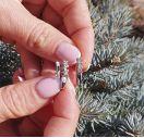 Серьги с бриллиантами из серебра