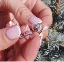 Серьги сердце с бриллиантами
