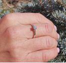 Кольцо для предложения с бриллиантом
