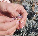 Серебряное кольцо с большим бриллиантом