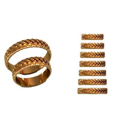 Парные кольца рельеф
