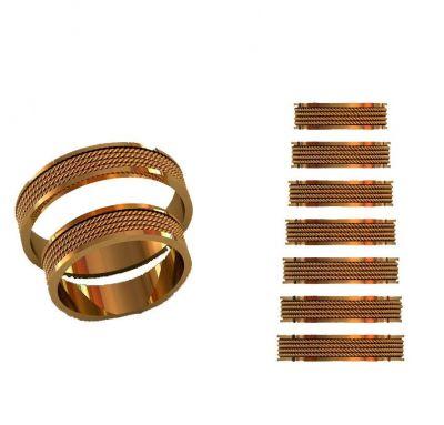 Парные кольца косички