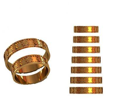 Обручальные кольца шестеренки