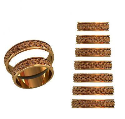 Обручальные кольца двойная косичка