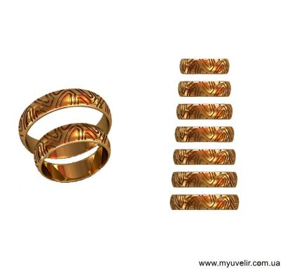 Обручальные кольца шины
