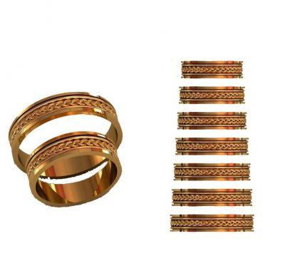 Обручальные кольца косичка