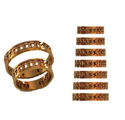 Обручальные кольца цепь