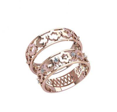 Парные кольца цветок