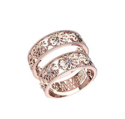 Парные кольца цветы