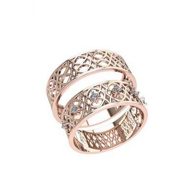 Парные кольца золотые