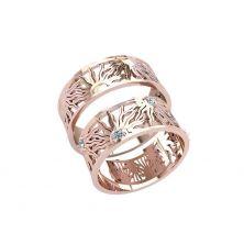 Обручальные кольца солнце