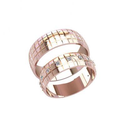 Обручальные кольца квадратики