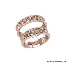 Парные кольца узорные