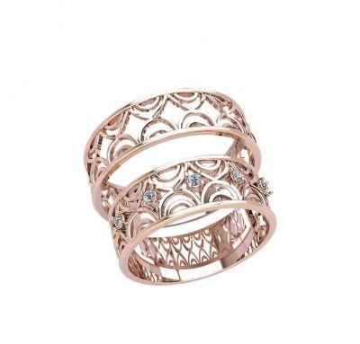 Парные кольца с узорами