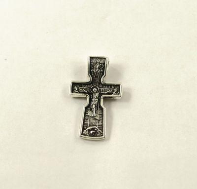Крест двусторонний Спаситель - Святитель Николай Чудотворец