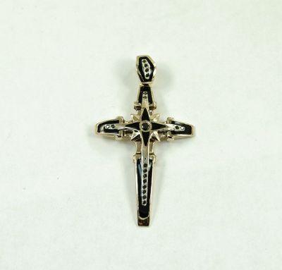 Крест с эмалью эксклюзив