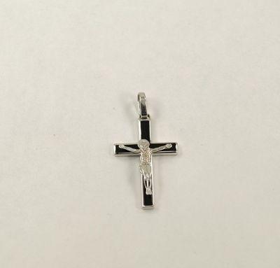 Крест мужской с эмалью
