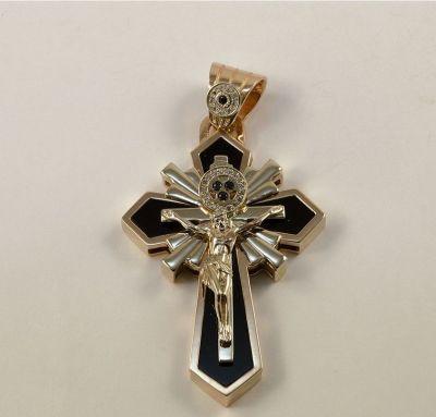 Эксклюзивный крест с ониксом
