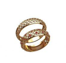 Обручальные кольца сеточка