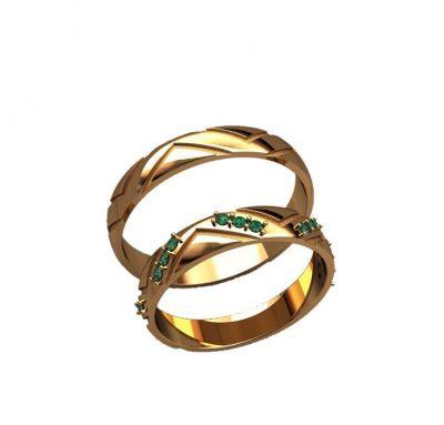 Обручальные кольца узкие