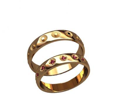 Обручальные кольца круг