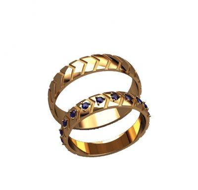 Обручальные кольца стрела