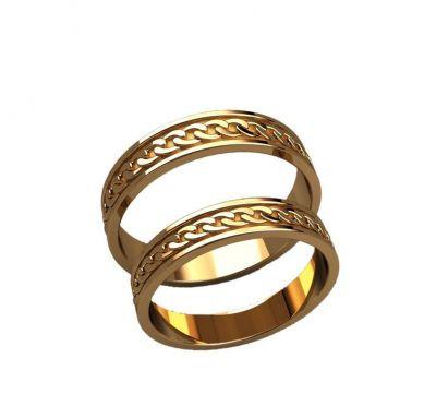 Обручальные кольца цепочка