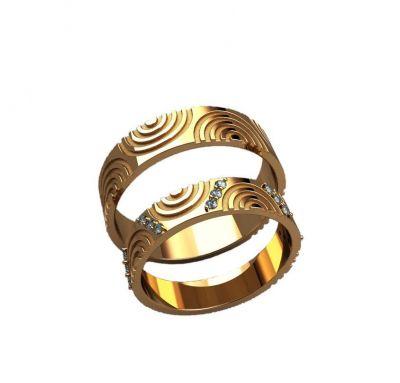 Обручальные кольца рельефные