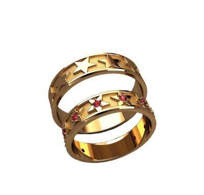 Обручальные кольца звезда