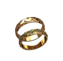 Обручальные кольца змейка